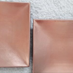 Storage & Organization - 2 Rose Gold Catch-All Dishes for Jewelry/Keys
